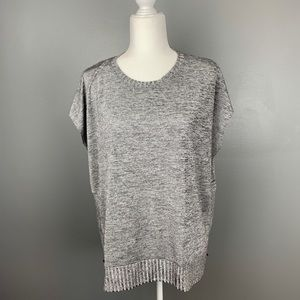 NWT Bar III Boho Sunset Silver Knit Top